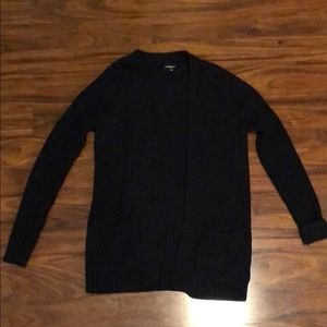 Express XS Black Open front Sweater
